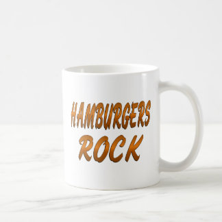 HAMBURGERS ROCK COFFEE MUG
