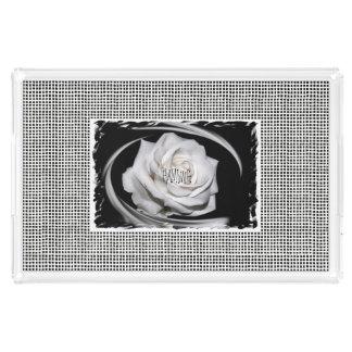 HAMbWG - AcrylicTray - Art Deco Ivory Scroll Look