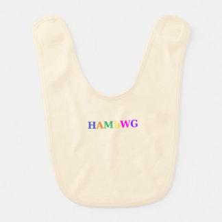 HAMbWG - Baby Bib - Creme w Multi-Color Logo