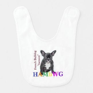 """HAMbWG - Baby Bib -  French Bulldog """"Samson"""""""
