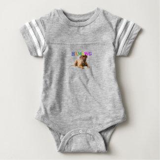 HAMbWG Baby Boy Logo w Mugsy Baby Bodysuit