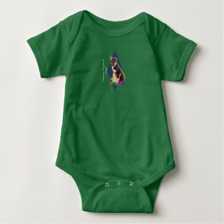 "HAMbWG Baby Boy T w Hambwg German Shepherd ""Max"" Baby Bodysuit"