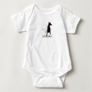 "HAMbWG Baby Boy T w Hambwg Pet Doberman ""Bailey"" Baby Bodysuit"