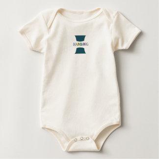 HAMbWG Baby - Boy's Teal w multi color logo Baby Bodysuit