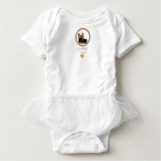 HAMbWG Baby Girl Tutu , T or Bodysuit - Ginger