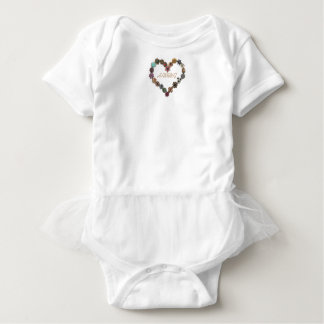 HAMbWG Baby Girl Tutu , T or Snap - Charming Heart Baby Bodysuit