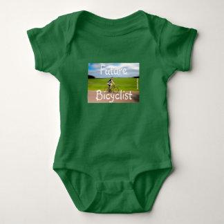 HAMbWG bicyclist - Baby snap T-Shirt - Green