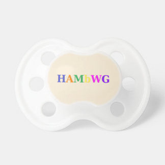 HAMbWG - Booginhead Pacifier - Creme w Multi-Color