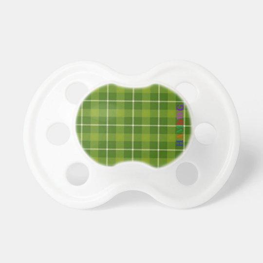 HAMbWG - Booginhead Pacifier - L. Green Plaid