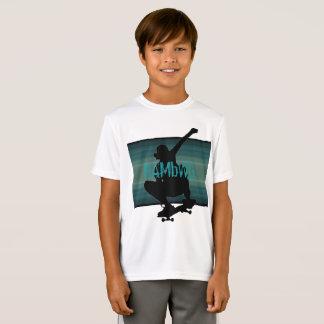 HAMbWG - Children's  T Shirt -  Teal  Skate Boarde