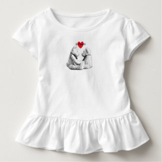 HAMbWG - Children's  T Shirt - Teddy Bear Love