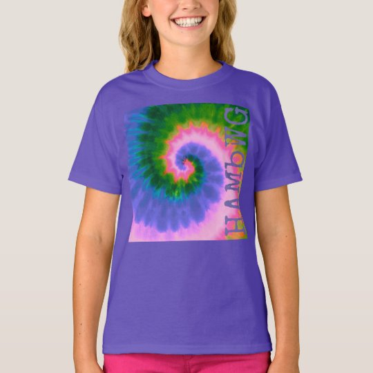 HAMbWG - Children's  T Shirt - Tie Dye with Purple