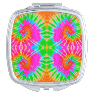 HAMbWG - Compact Mirror - Bright Tie Dye