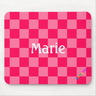 HAMbWG - Computer Mouse - Hot Pink Checker Mouse Pad
