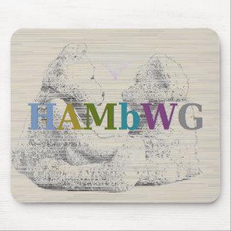 HAMbWG - Computer Mouse - Teddy Bear Love Mouse Pad