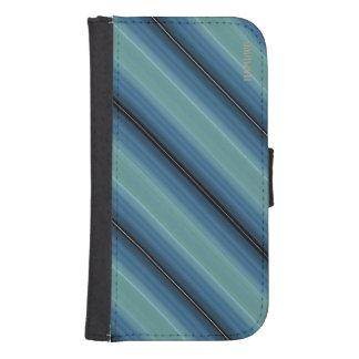 HAMbWG Design  Phone Wallet Case - Teal Diagonal