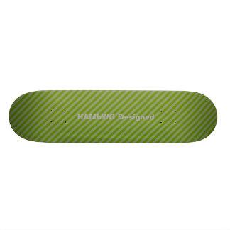 HAMbWG Designed Skateboard - Green Diagonal