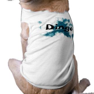 HAMbWG - Dog T-Shirts - Turqoise Ink Sleeveless Dog Shirt