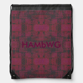 HAMbWG Drawstring Backpack - Cherry/Charcoal