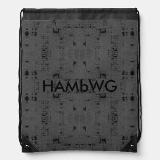 HAMbWG - Drawstring Backpack - Grey/Black
