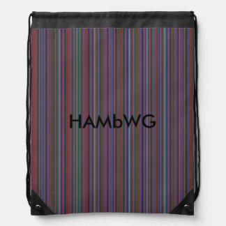 HAMbWG Drawstring Backpack - Purple/Grey Gradient