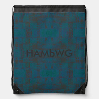 HAMbWG Drawstring Backpack - Teal/Charcoal
