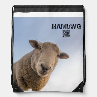 HAMbWG Drawstring Backpack - White Sheep