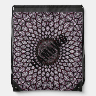 HAMbWG - Drawstring Bag - Indian Ink - Cherry