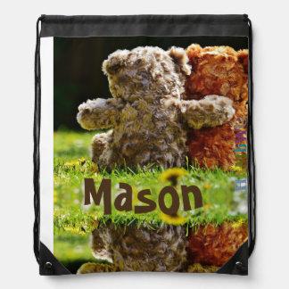 HAMbWG  Drawstring Bag -  Teddy Bear Friends