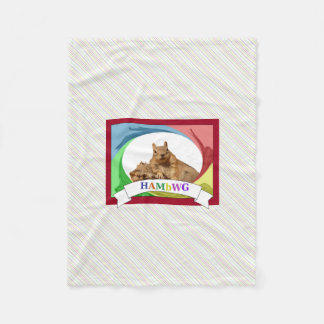 HAMbWG - Fleece Blanket - HAM Squirrel Primary