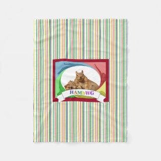 HAMbWG - Fleece Blanket - HAM Squirrel Primary