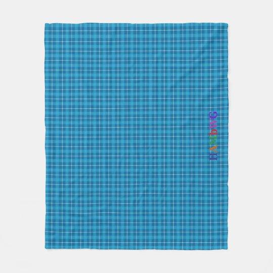 HAMbWG Fleece Blanket - L. Blue Plaid