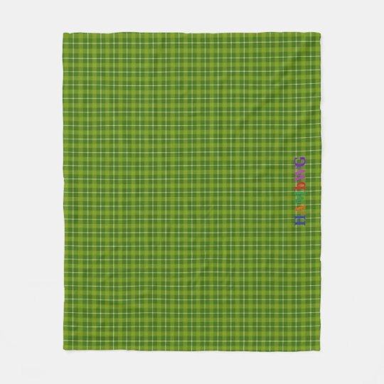 HAMbWG Fleece Blanket - L. Green Plaid