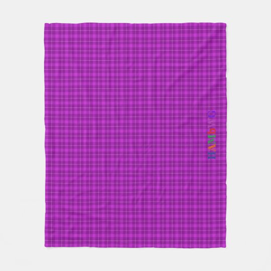 HAMbWG Fleece Blanket - Violet Plaid