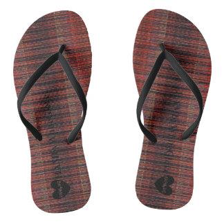 HAMbWG - Flip-Flop - Deep Red Matchstick Look Thongs