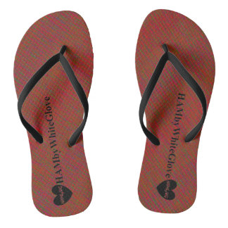 HAMbWG - Flip-Flop - Red w Mix of Colors Thongs