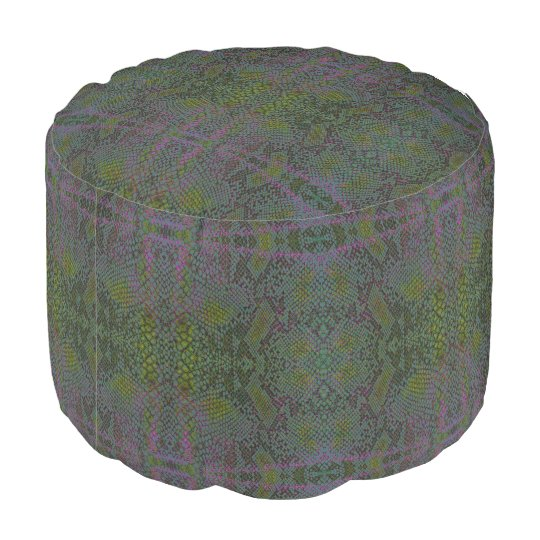 HAMbWG Foot Rest -  Snakeskin Design Pouf