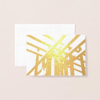 HAMbWG - Gold Foil Card - Architecture - Blank