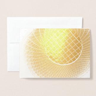 HAMbWG - Gold Foil Card -Blank Card - Architecture