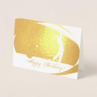 HAMbWG - Gold Foil Card - Golfer 2