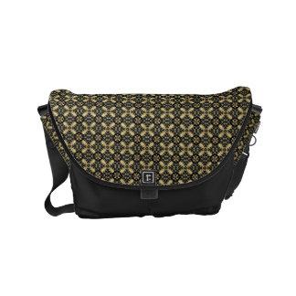 HAMbWG Gold X Jeweled Look Design Messenger Bag
