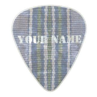 HAMbWG   Guitar Pics - Blue Bohemian Hipster Pearl Celluloid Guitar Pick