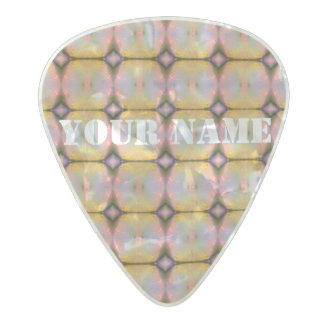HAMbWG   Guitar Pics - Yellow Orange Pink Lilac Pearl Celluloid Guitar Pick