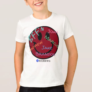HAMbWG - Jersey - BFF Red Smiley Emoji T-Shirt