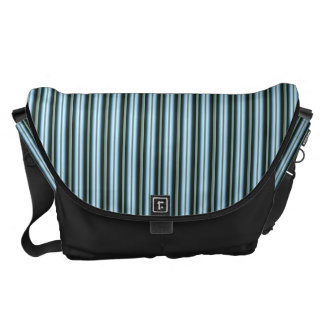 HAMbWG - Large Messenger Bag -  Black Light Stripe