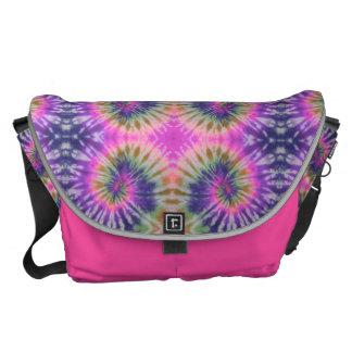 HAMbWG - Large Messenger Bag - Tie Dye Pink Purple
