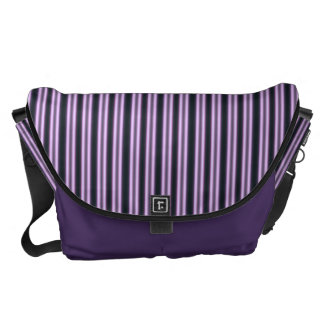 HAMbWG - Large Messenger Bag -  Violet Stripe