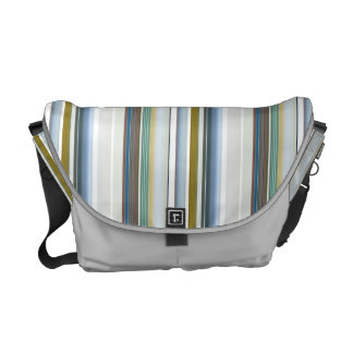 HAMbWG Large Rickshaw Messenger Bag - Striped