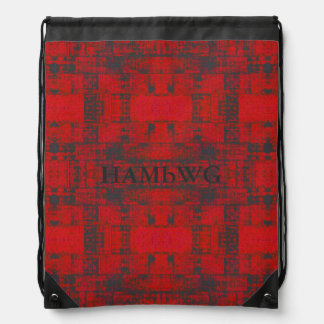 HAMbWG Logo Drawstring Backpack - Distressed Red