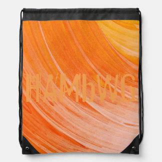 HAMbWG Logo Drawstring Backpack - Orangy Swirl